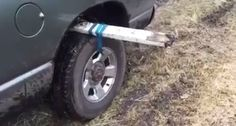 If Your Car Is Ever Stuck In The Mud, Here's A Genius Way To Get It Out