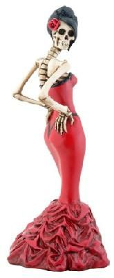 Day of The Dead Dod Ballroom Girl Statue Figurine