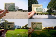 Dollar Bill Art in Washington DC
