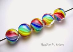 Rainbow Swirls No. 4 by Heather Sellers #HeatherSellers