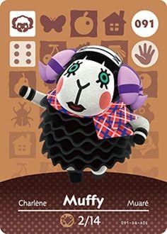 Nintendo Animal Crossing Happy Home Design Muffy Amiibo Card 091 USA Version #Nintendo