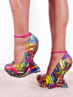 Ankara African Print Patchwork Reconstructed Ankle von tribalgroove, $90.00