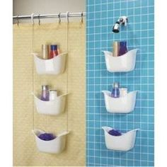 I like that it can go over the door or the shower head, but how well would those tubs drain...