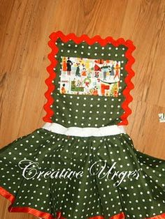diy christmas apron