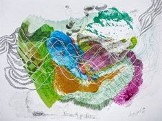 "Saatchi Art Artist Marijah Bac Cam; Drawing, ""Database Under My Skin"" #art"