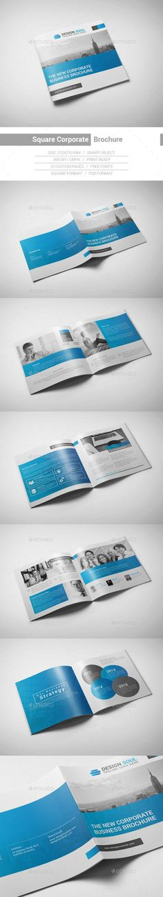 Square Corporate Brochure — Photoshop PSD #clean #square brochure • Available here → https://graphicriver.net/item/square-corporate-brochure/15200276?ref=pxcr