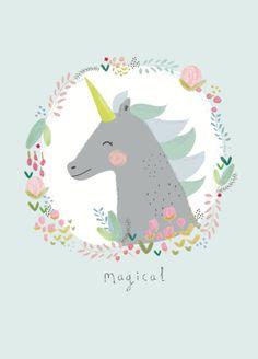 Aless Baylis 'Kaart Magical Eenhoorn'