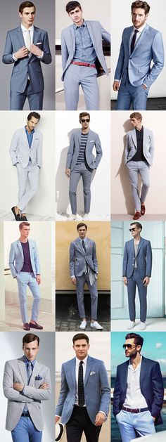 5 Key Men's Suit Styles For 2014 Spring/Summer: The Light Blue Suit - Full Suit Separates Lookbook Inspiration