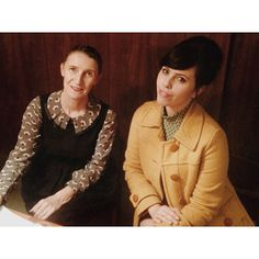 Orla Kiely and Carrie Harwood get to know each other before the UNIQLO Google+ Hangout. #UNIQLOOrlaKiely