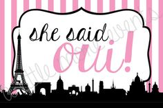 Parisian Bridal Shower - She Said Oui #alittlemoreevents