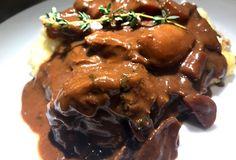 Madfilosofie.dk Pork, Food And Drink, Menu, Chicken, Blog, Handmade, Grey, Kale Stir Fry, Menu Board Design