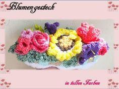Blumengesteck  Häkelanleitung von berli design meine Häkelwelt für Groß und Klein auf DaWanda.com