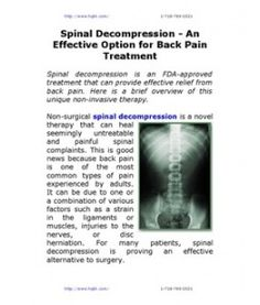 Spinal Decompression - An Effective Option for Back Pain Treatment