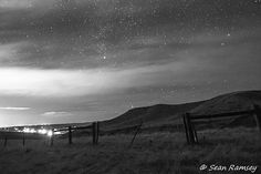 Old West, Landscape Photography, Black and White, 8 x 10 Print, Starry Skies, Western Theme on Etsy, $25.00
