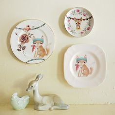 The Storybook Rabbit: up cycled vintage plates, hand-painted ceramic tiles, jewellery, paper goods and more