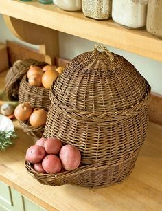 Potatoe and Onion storage baskets