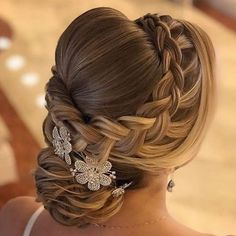 Vintage Wedding Hairstyles For Gorgeous Brides ★ See more: www. Vintage Wedding Hairstyles For Gorgeous Brides ★ See more: www. Vintage Wedding Hairstyles For Gorgeous Brides ★ See more: www. Quince Hairstyles, Wedding Hairstyles For Long Hair, Bride Hairstyles, Vintage Hairstyles, Gorgeous Hairstyles, Hairstyles Pictures, Braided Crown Hairstyles, Hairstyle Wedding, Fashion Hairstyles