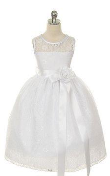 immagine 1 - Abito da comunione Ball Gown con Fusciacca con Fiore Naturale