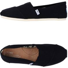 Toms Ballet Flats ($44) ❤ liked on Polyvore featuring shoes, flats, toms, sapatos, black, flat pumps, black flat shoes, toms flats, ballet pumps and ballet flats