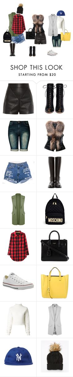 """""""Transistion - Shorts"""" by theluxemode on Polyvore featuring Balenciaga, Gianvito Rossi, City Chic, Junya Watanabe, WearAll, Moschino, Yves Saint Laurent, Converse, Coccinelle and Dion Lee"""