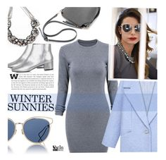 """New Winter Sunnies"" by ansev ❤ liked on Polyvore featuring mix-style, Christian Dior, Topshop, women's clothing, women's fashion, women, female, woman, misses and juniors"