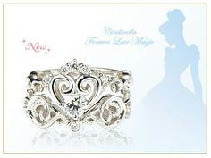 Two Piece Cinderella Engagement Ring Set
