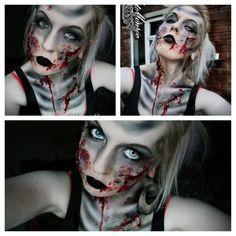 Zombie airbrush special fx sfx face paint body art Halloween horror