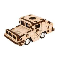 Wooden Model Vehicle Kits Wood Series- Scale Models Running Humvee