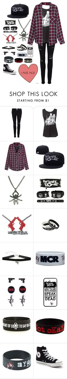"""""""My Chemical Romance..."""" by emo-kyleigh ❤ liked on Polyvore featuring Frame Denim, Rails and Converse"""