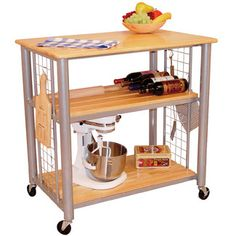<strong>Catskill Craftsmen</strong> Contemporary Kitchen Cart with Butcher Block Top