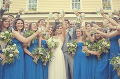 bridal party mason jars
