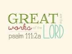 Psalm 111:2
