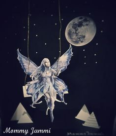 Mommy Jammi: The Night Fairy. Cosmic, Fairy, Crafting, Magic, Celestial, Night, Projects, Outdoor, Log Projects