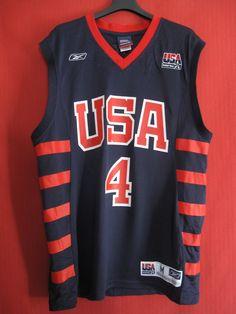 Maillot Basket Reebok United State Oldschool USA Away N° 4 M   eBay