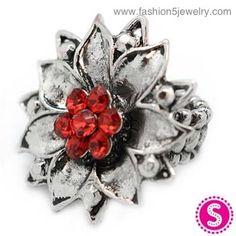 Paparazzi Red Flower Ring $5 loripaparazzi@gmail.com www.paparazziaccessories.com/16214