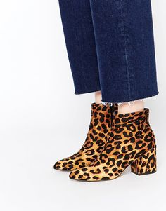 OBSESSED! Leopard print heaven : http://www.asos.com/ASOS/ASOS-RADIO-STAR-Pointed-Ankle-Boots/Prod/pgeproduct.aspx?iid=5231965&affid=14242&channelref=social+campaigns