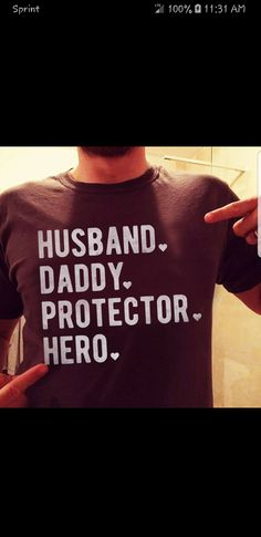 c204b611 Husband. Daddy. Protector. Hero. Fathers Day Ideas For Husband, Amazing Man