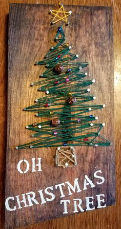 OH Christmas Tree String Art by HandiDaniStringArt on Etsy