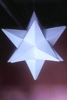 Wire and tissue paper 12 points star Lampshade