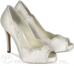 Love these Benjamin Adams wedding shoes! The perfect look for a bride!
