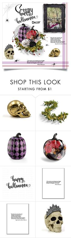 """""""Creepy Halloween Decor"""" by kschneider91 ❤ liked on Polyvore featuring interior, interiors, interior design, home, home decor, interior decorating, Grandin Road, Improvements and Cricut"""