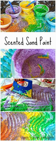 How to make textured and scented homemade paint for a multisensory art experience.