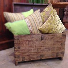 Elegant textures in a rustic Indian dowry chest