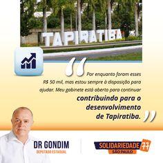 Os recursos que destinei para a Prefeitura de Tapiratiba, no valor de R$ 50 mil, já estão disponíveis. Agora a administração pública pode adquirir os equipamentos que precisam. #FichaLimpa #77000 #DrGondim #votedrgondim77000