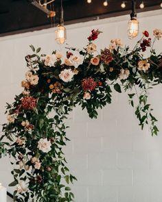 Organic hanging arbor!  #ceremonyarch #floralarch #romanticweddings   Floral Installation   Floral Wedding