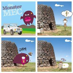 #monstermec #themonstermec #mostromec #fumetto #comics #sardegna #sardinia #sardegna2015 #sardinia2015 #color #colore #art #nuraghe #art #draw #drawing #monster #mostro #sheep #pecora