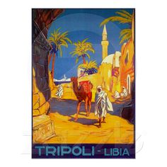 Tripoli Libia - Libya ~ Vintage Travel Print