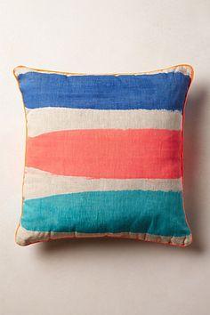 Coral Stripe Pillow #anthropologie #pintowin