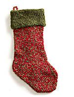 Easy Holiday Stocking to Crochet - Free Patterns at Lion Brand Yarn's website!