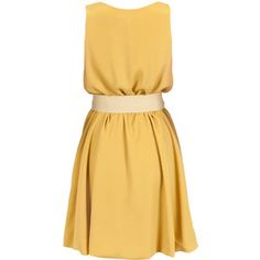 Silvian Heach Dress Ashley  -  Mustard